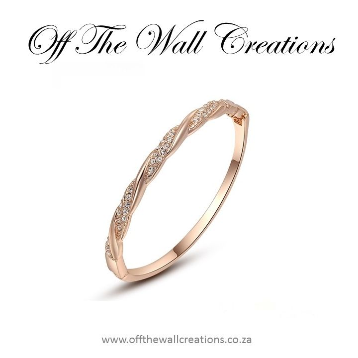 Twist Rose Gold Cuff Bangle On line orders: https://www.offthewallcreations.co.za/collections/bangles/products/glam-bracelet-3 Price; R300