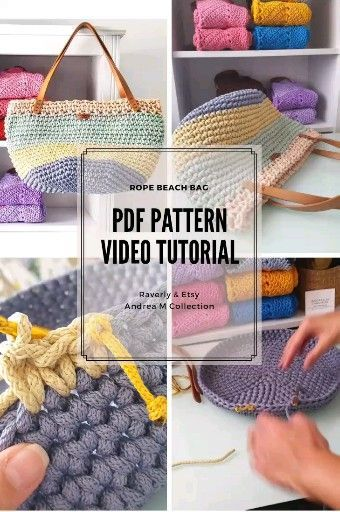 PDF Crochet Pattern and Full Video Tutorial! VIDEO TUTORIAL FULL VIDEO TUTORIAL….