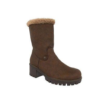 RIEKER Y8683 μπότες σε καφέ χρώμα