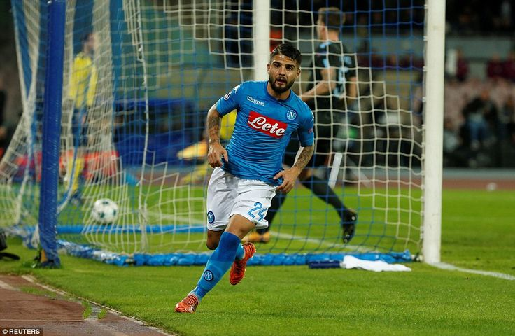 Lorenzo Insigne has put the Serie A side ahead after 20 minutes when he finished off a incisive attack with a smart finish