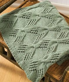Cable Knit Throw - free knitting pattern