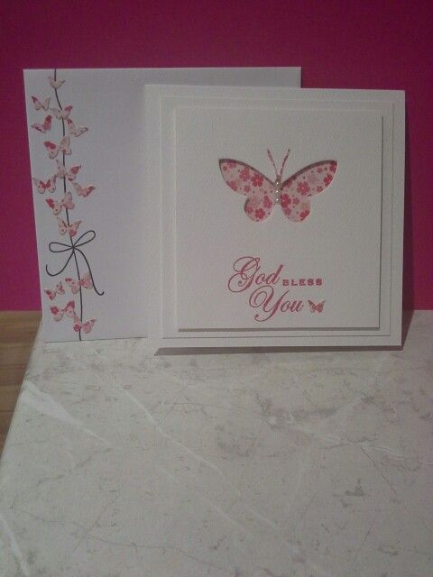 Butterfly blessings. Card and envelope in shot