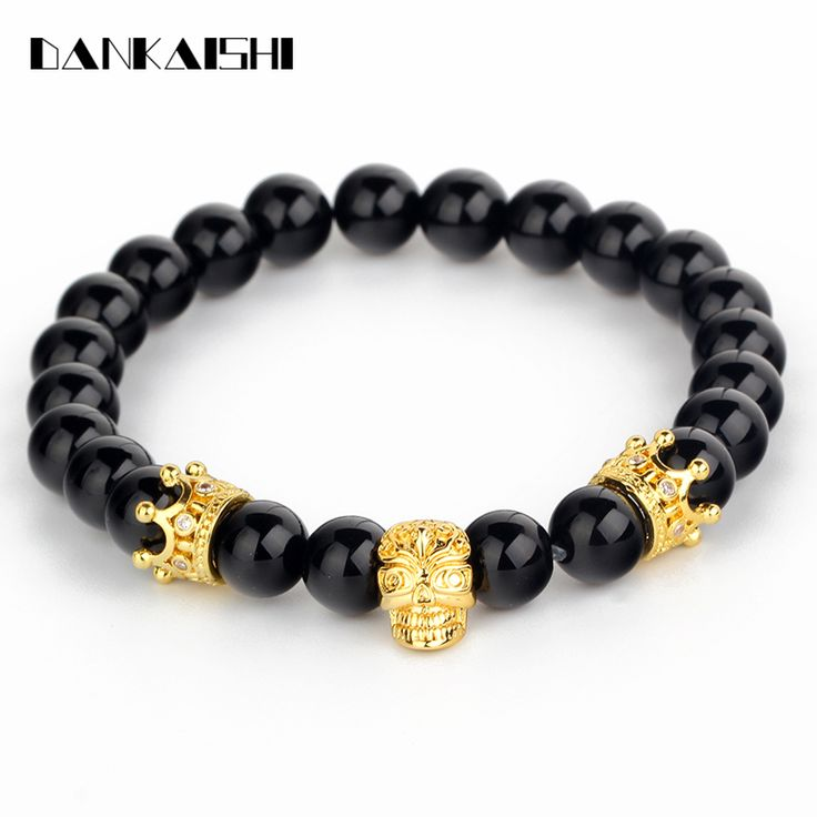 Find More Strand Bracelets Information about 2017 Fashion Crown Bracelet Women Male Bracelets Inlay Zircon Stones Skull Hand Chain Charm Beads Jewelry Gift DKS BR056,High Quality hand chain,China male bracelet Suppliers, Cheap bracelet women from Fashion Jewelry Accessory Store on Aliexpress.com