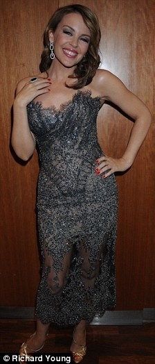 Kylie Minogue wears J'Aton Couture at London Movie Awards 2008