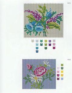 floral herringbone