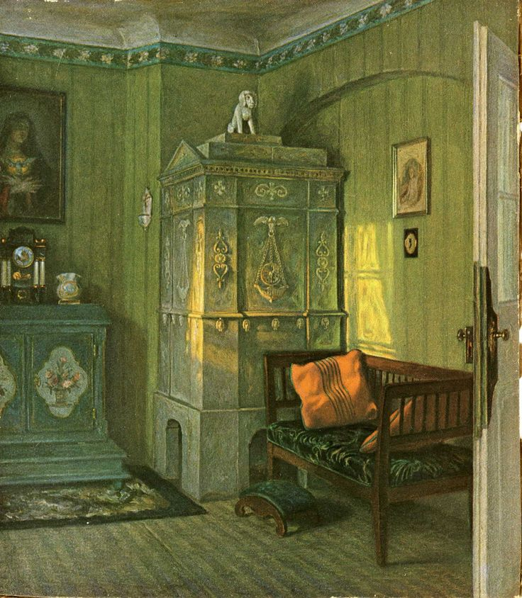 The Green Room, ca. 1900, by Paul Hoecker
