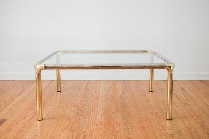 Vintage Brass Chrome Coffee Table Homestead Seattle Pinterest Coffee Coffee Tables And Tables