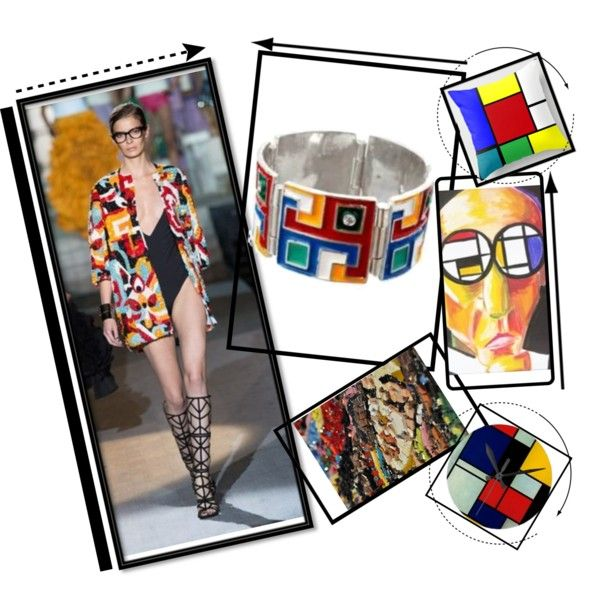 """MCreations - BeMomartins - Mondrian"" by alvufashionstyle on Polyvore"