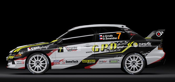 Orsák Rally Sport - J. Orsák (Mitsubishi Lancer Evo IX) - design for season 2012.