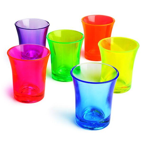 Econ Neon Polystyrene Shot Glasses CE 0.9oz / 25ml