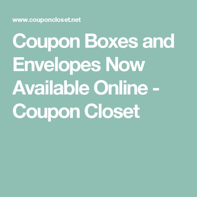 Coupon Boxes and Envelopes Now Available Online - Coupon Closet