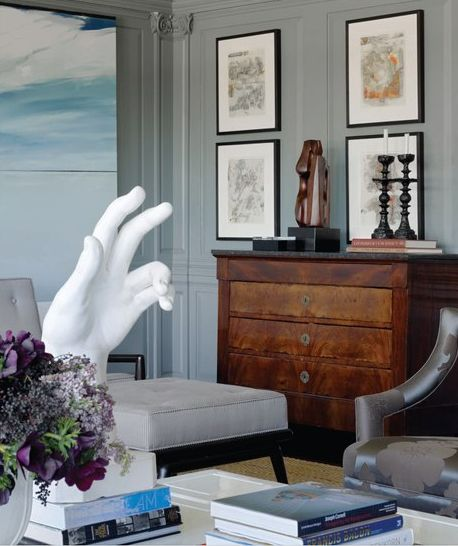modern silhouettes are beautifully mixed with classic antiques,