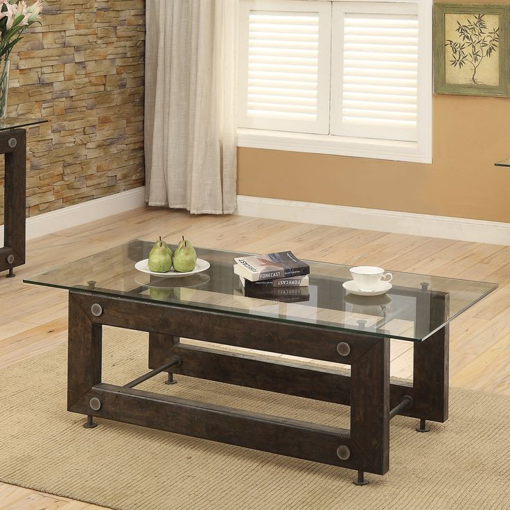 Coaster Furniture Industrial Glass Top Coffee Table - 704278