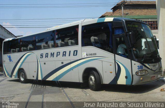 Ônibus da empresa Viação Sampaio, carro 340, carroceria Irizar Century 370, chassi Scania K310. Foto na cidade de Rio de Janeiro-RJ por José Augusto de Souza Oliveira, publicada em 17/02/2017 22:35:06.