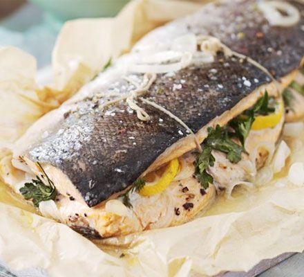 Easter recipe : Roasted salmon