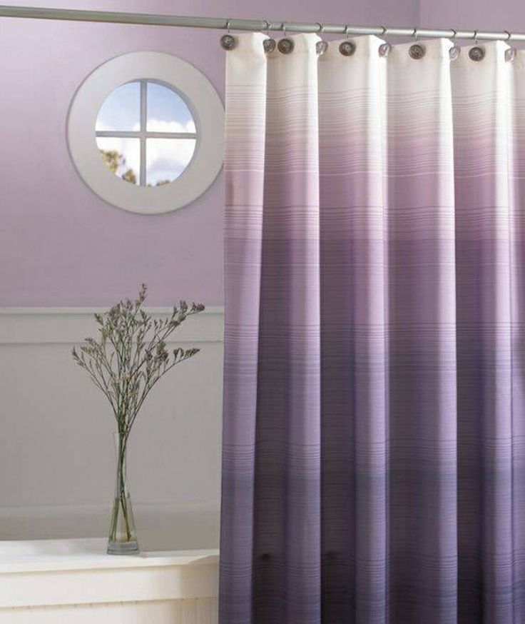 Bathroom , Modern Shower Curtain For Bathroom : Purple Ombre Modern Shower Curtain