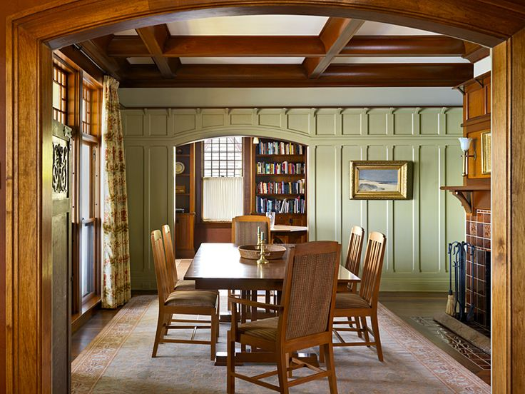 Arts And Crafts Style Dining Area By Battle Associates Architects
