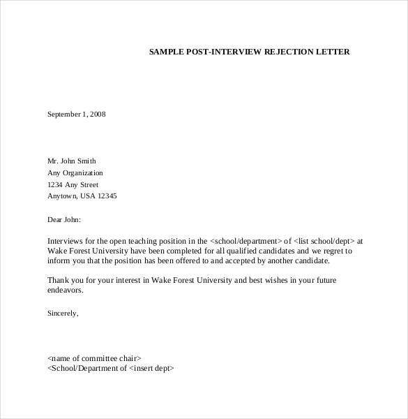 Rejection Letter Check More At Https Cleverhippo Org Rejection Letter