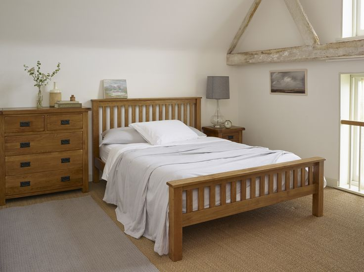 Original Rustic Solid Oak range features gently rounded corners and chamfered edges, with wooden dowel detailing. The oak is finished with a subtly stained wax, giving the feel of a well cared for antique oak piece, slightly darker than our other oak ranges. The high quality of the bed is undeniable, with everything down to the slats crafted from solid oak by our expert joiners.
