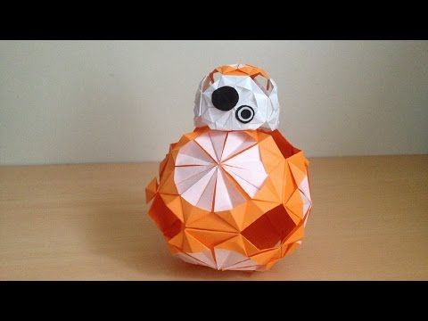 折り紙のスター・ウォーズ BB-8 立体 簡単な折り方 Origami Star Wars BB-8 3D (niceno1) - YouTube