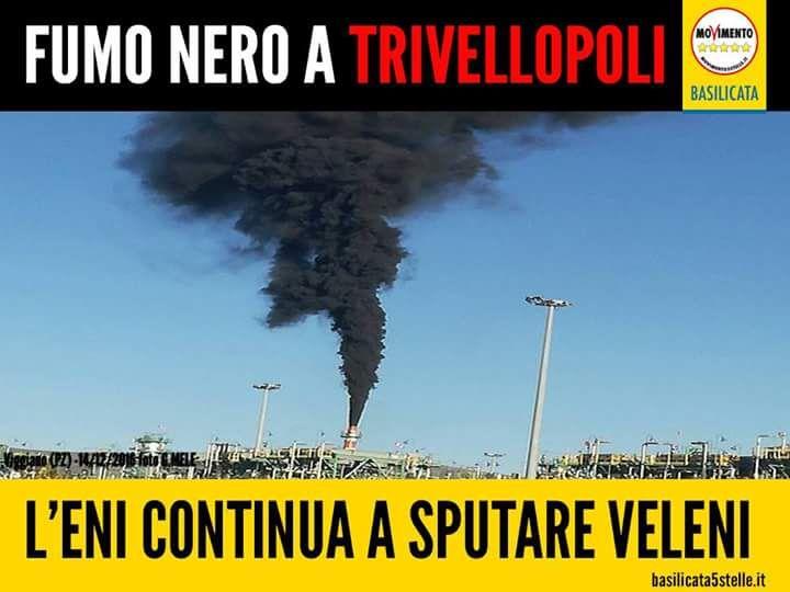 il popolo del blog,notizie,attualità,opinioni : Il fumo nero del Centro Oli di Viggiano (#Basilica...