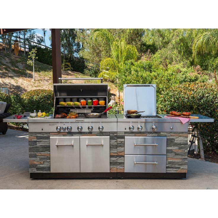 Kitchenaid 9 burner island gas barbecue grill cover