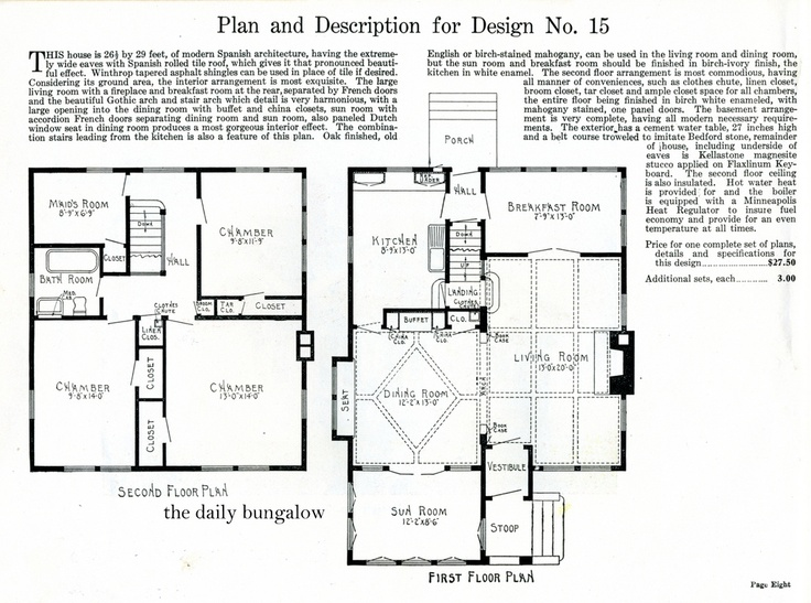 jens pedersenhouse plan 1919 closest to my house ive ever - 1919 House Plans