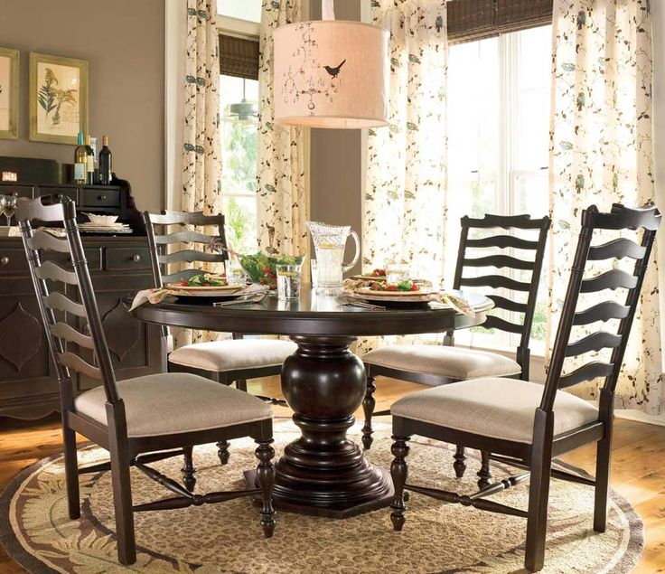 Paula Deen Round Dining Table Dining Set 5-Piece UF-932655-634-5PC. Love the table and chairs, just wish it had seating for at least 8