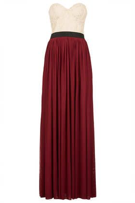 Lace Top Maxi Dress by Rare