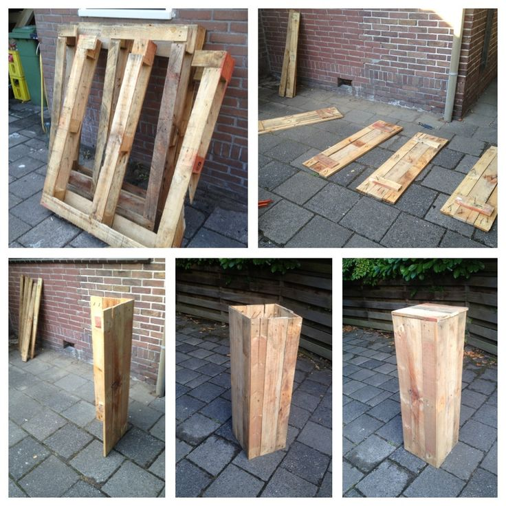 From Pallet To Pillar Recycling Things I 39 Ve Made