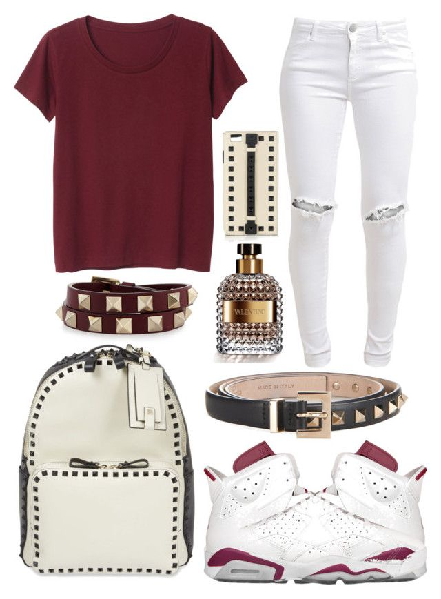 """""""Maroon 6"""" by neilaninewsome ❤ liked on Polyvore featuring Monki, NIKE, Valentino and FiveUnits"""