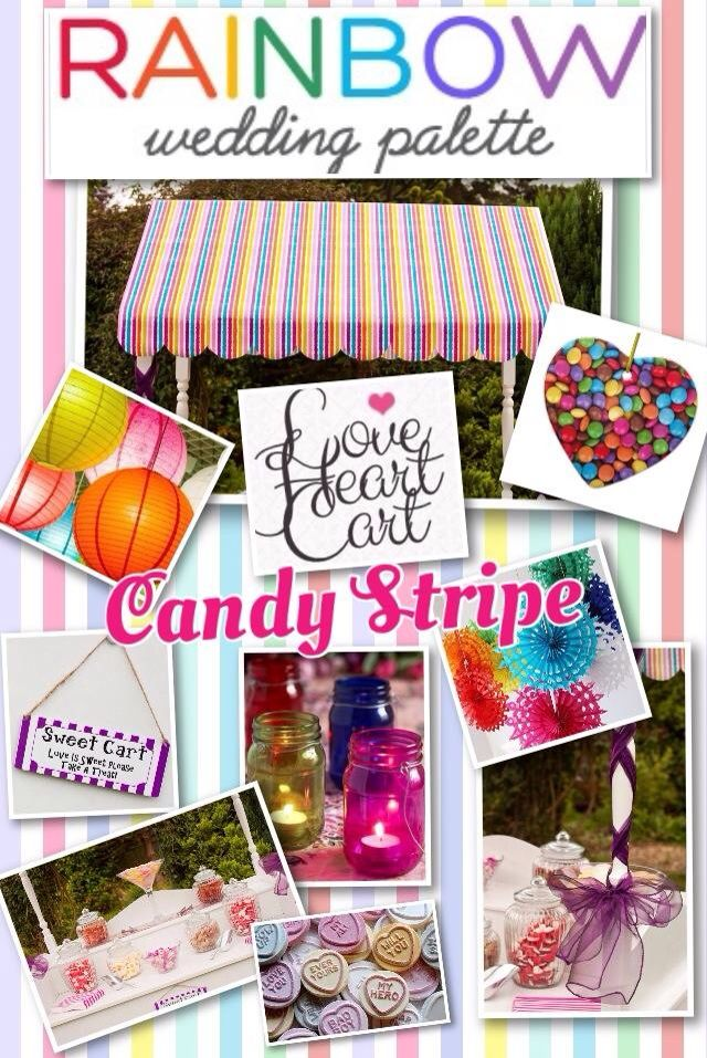 Rainbow Wedding Inspiration Board by www.facebook.com/loveheartcart