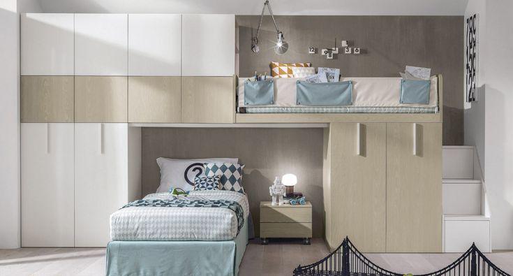 Teenage bedroom with bridge wardrobe Z321 by Zalf