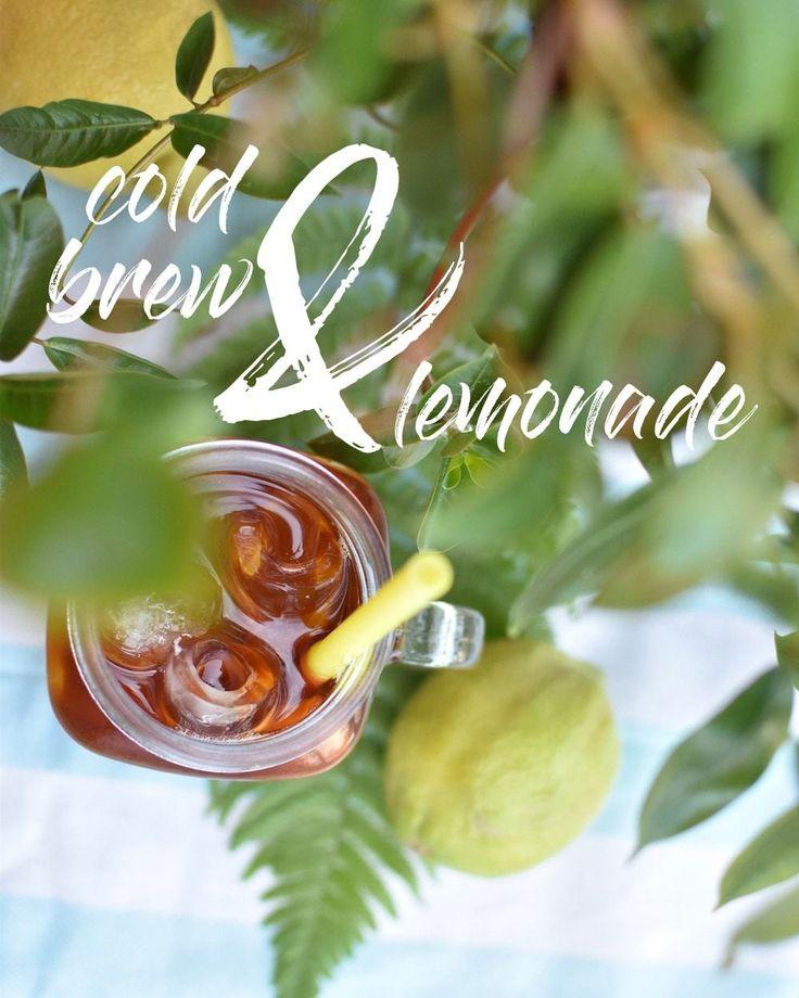 Eiskalte Sommererfrischung: Cold Brew mit Zitronenlimonade auf Eis - das klingt erstmal seltsam, ist aber sehr erfrischend!