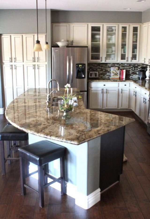 These days, the kitchen is the busiest room in most houses. 45+ Stunning Kitchen Island Design Ideas - Page 32 of 45 | Round kitchen island, Kitchen center