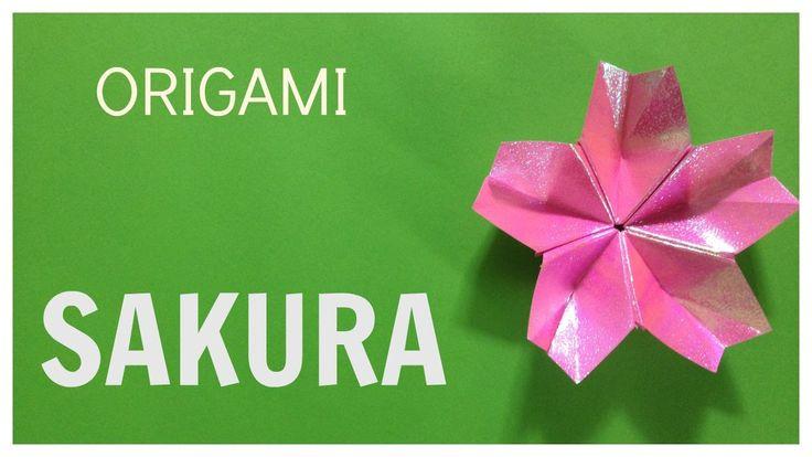 How to make easy origami sakura