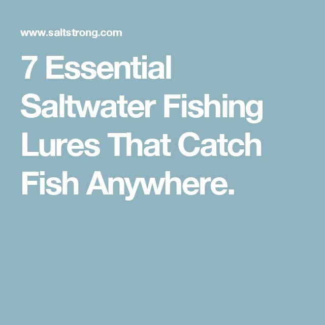 7 Essential Saltwater Fishing Lures That Catch Fish Anywhere.
