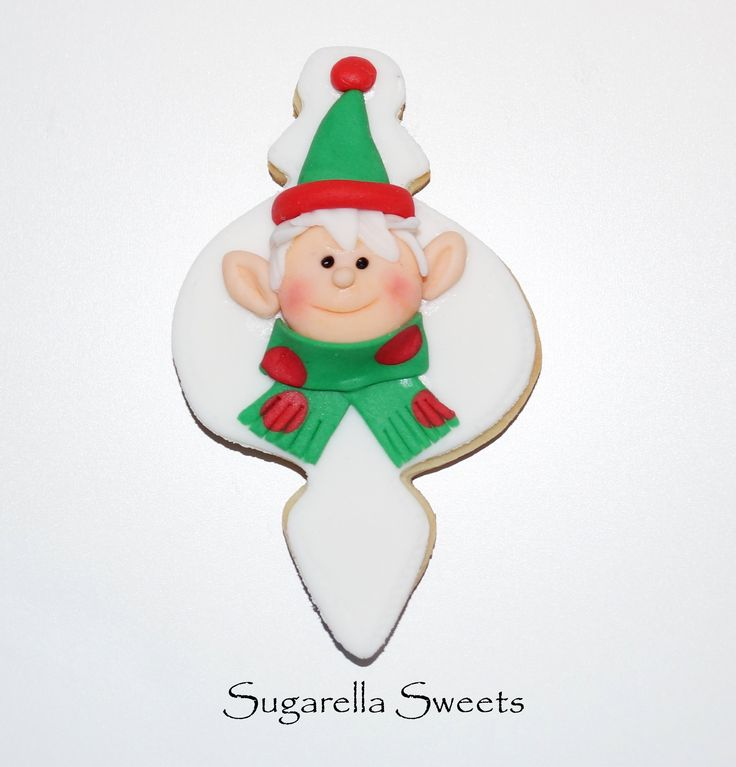 Christmas Elf cookie, perfect for the holidays. For more ideas have a look at www.SugarellaSweets.com