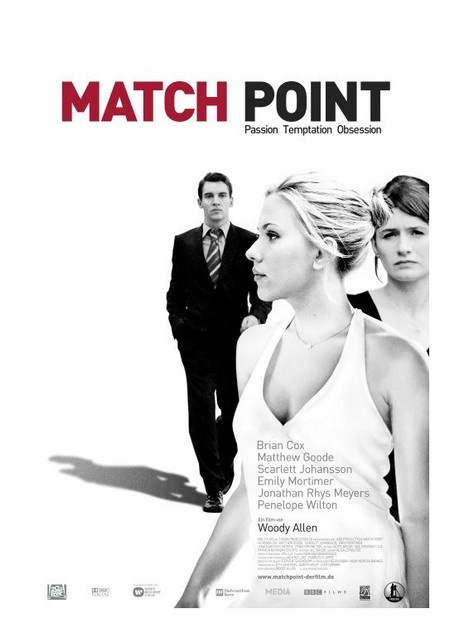 Match Point (2005)Movie Posters, Film, Scarlett Johansson, Woodyallen, Point2005, Point 2005, Woody Allen, Matching Point, Jonathan Rhys Meyers