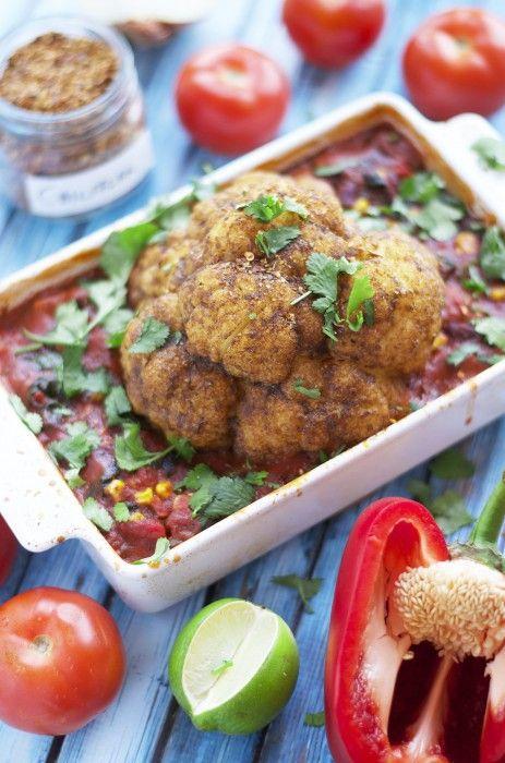 Oppskrift, tekst og bilder: Ingrid Helene Jurs (Veganslife.com)  2 stk ovnsbakt blomkål Prep Time: 15 minutes Cook Time: 30 minutes Serving: For to per