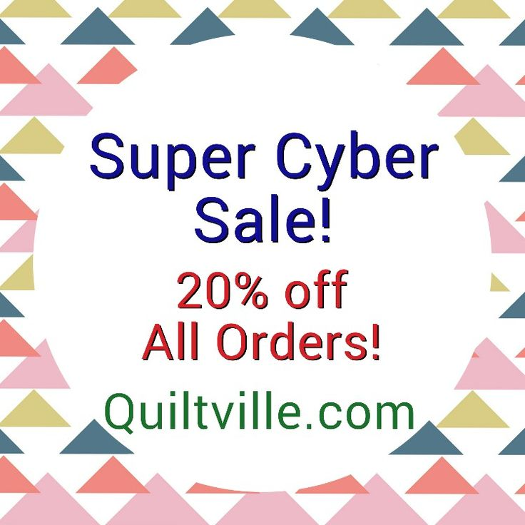I'm making this short and simple! I have dropped the prices on everything in my online store to 20% off.  Visit my blog for more details! This offer only good for one week! http://quiltville.blogspot.com #quilt #quilting #patchwork #quiltville #bonniekhunter #cybermonday