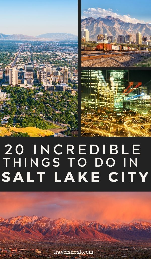 20 Things To Do In Salt Lake City In 2020 Salt Lake City Downtown Salt Lake City Travel Usa