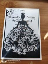 Tienda Online 50 unids/lote Exquisito Hermosa muchacha tarjetas de invitación de la boda la fiesta de cumpleaños celebración Ceremonia de Adultos invitaiton tarjeta bendición   Aliexpress móvil