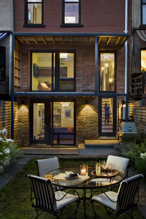 Patio Design Ideas For Small Backyards backyard patio designs small yards smart design ideas for cozy patios youtube backyard patio ideas patio Yard Rear Facade Eclectic Patio New York Cwb Architects Love The Covered Open Air Space Large Windows Small Backyard Designs Design Ideas