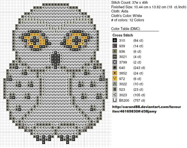 Hedwig Harry Potter pattern by carand88 on deviantART