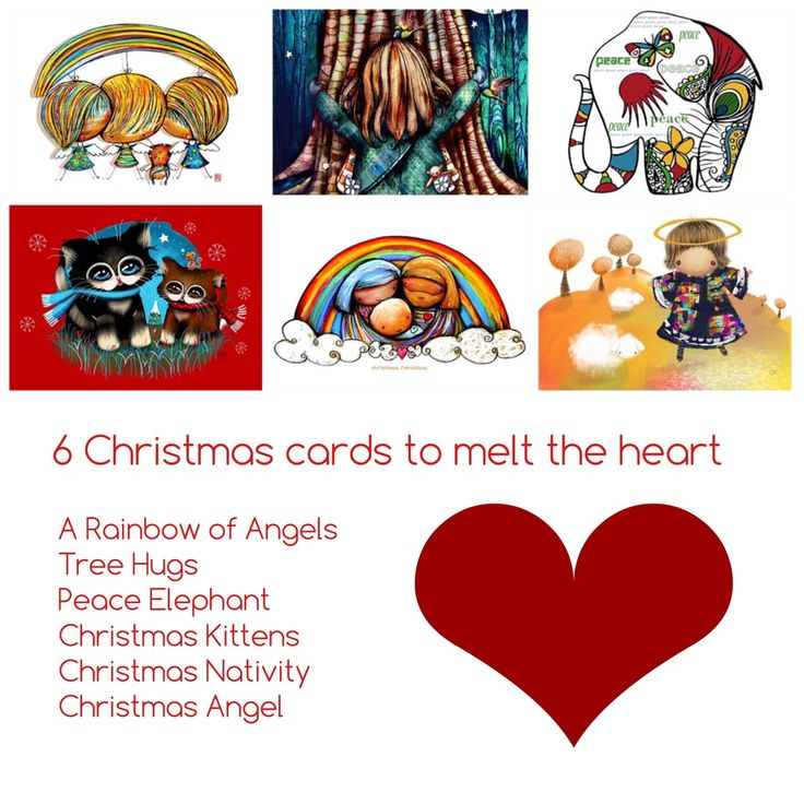 6 Christmas Cards to Delight the Heart — art by karin taylor