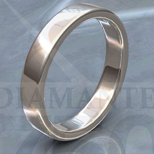 Argolla de matrimonio plana de 4mm