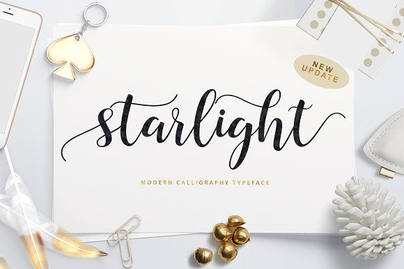 Starlight Script (40% Off) by Unicode on @creativemarket
