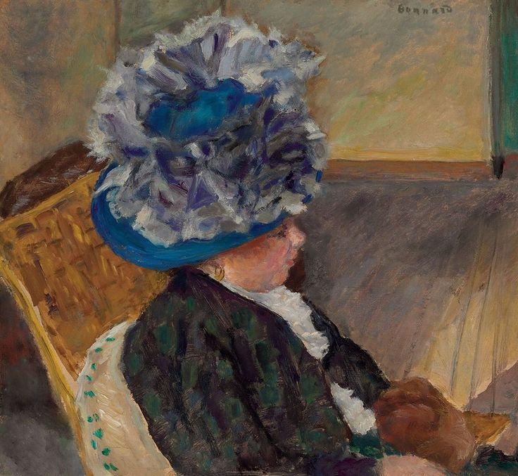 Pierre Bonnard - Jeune femme au chapeau bleu, 1908