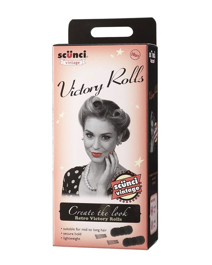 Scünci 10 piece Victory Roll Hair Styling Kit